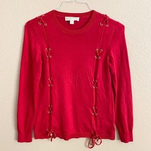 Michael Kors Red Sweater Size M